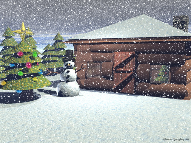 Snow Scene X-Mas Card!